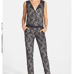 NWOT Jessica Simpson Ana sleeveless Lace Jumpsuit